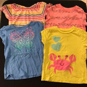 💖5/$25 bundle of toddler girl's play shirts